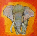 original   abstract elephant 2 painting