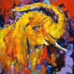 original   abstract elephant painting