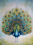 one peacock by original paintings