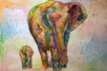 original   two elephants 2 painting