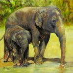 original two elephants 3 painting