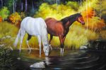 two horses 5 by original paintings