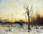 winter russia 5 by original Painting