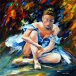 original a dancer after the show painting