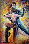 original abstract argentine tango painting