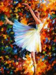 original abstract ballet dance painting