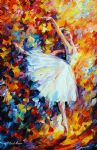 original abstract ballet magic painting
