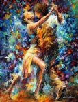 original abstract dancers painting