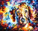original abstract dog 4 painting
