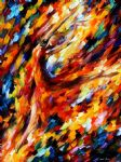 original abstract flame dance painting
