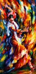 original abstract flamenco dancer painting