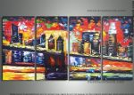 original abstract new york landscape painting