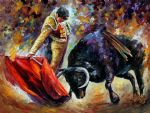 abtract corrida dangerous opponent by original paintings