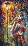 original accordion cat painting