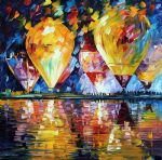 balloon festival by original painting