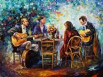 blissful evening music by original paintings