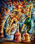 bottles music by original paintings
