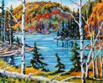 original canada mountain landcsape painting 86436