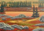 original canada mountain landscape painting 86437