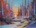 original canada trees landcsape painting 86447