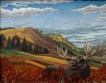 original canadian landscape moose canada animal painting 86457
