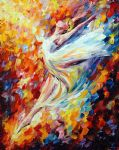 dancer with passionate flamenco by original paintings