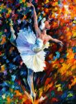 ballet famous paintings - dazzle colour ballet dancer by original