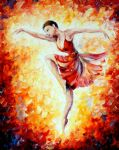 flaming dance by original paintings