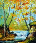 forest stream by original paintings