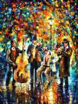 glowing music by original paintings
