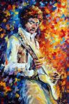 original guitar music player painting 86630
