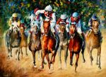 original horse race painting