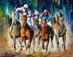 original horse racee winner painting