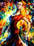 original oil paintings - in the style of flamenco dance by original