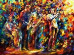 original jazz band painting