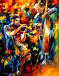 jazz duo by original paintings
