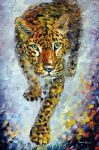 leopard 2 by original painting