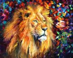 original lion painting 86655
