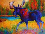 original majestic monarch  moose marion rose canada animal painting 86660