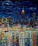 original modern new york city landscape painting 86668
