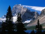 original mountain peak banff bational park alberta canada painting 86478