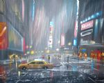 new york city scenery down pour by original painting