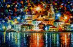night harbour by original paintings