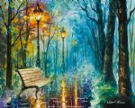 original oil paintings - night of inspiration by original