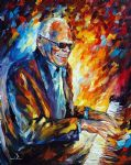 original ray charles music player painting