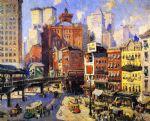 original south ferry new york painting