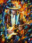 original stevie ray vaughan music player painting