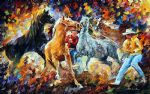 subdual horses by original paintings