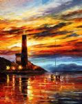 original the lighthouse seascape painting