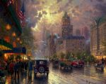 original thomas kinkade new york 5th avenue prints
